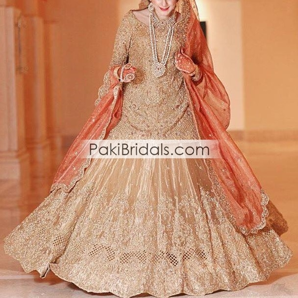 d5cd7124cb Pakistani Golden Bridal Dress 166 – Pakistan Bridal Dresses