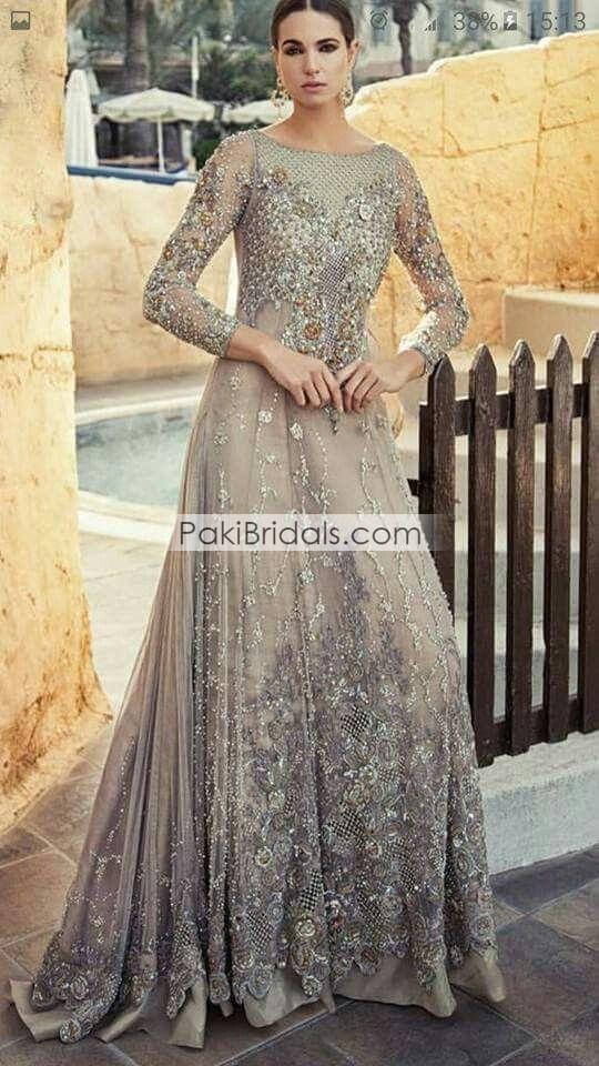 4c94bcd2e2 Grey Bridal Maxi 551 – Pakistan Bridal Dresses