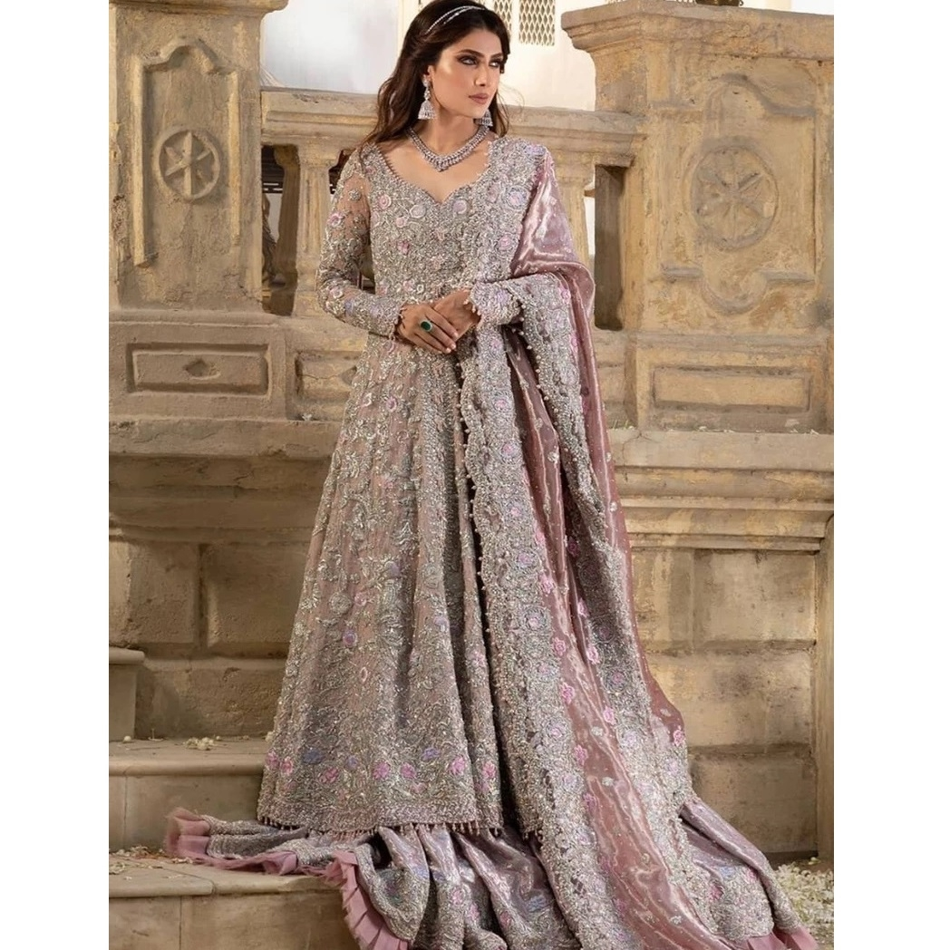 Light Purple Bridal Maxi 703 Pakistan Bridal Dresses,Rose Gold Wedding Theme Bridesmaid Dresses